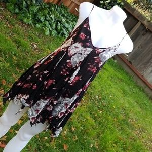 intimately free people black floral slip dress